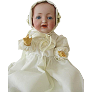 Antique JDK Kestner German Bisque Dome Head Character Baby Doll