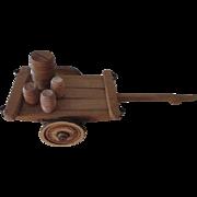 Vintage Wooden Donkey Cart