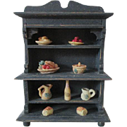 Miniature Doll House Cupboard of Food