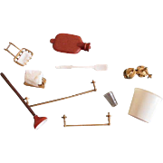 Miniature Doll House Bathroom Accessories
