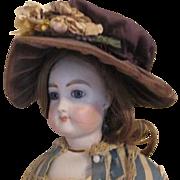 Antique Silk and Velvet Doll Bonnet