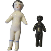 Antique Frozen Charlottes - Tiny Dolls