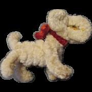 Tiny Chenille Frippon Dog