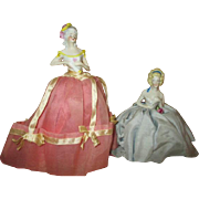 Two Antique German Half Dolls