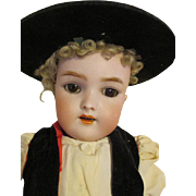 Extremely Handsome Bisque Head Boy Doll