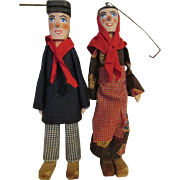 Vintage Wooden Puppets