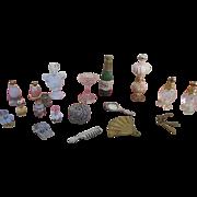 Miniature Boudoir Doll House Items
