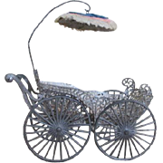 Antique Soft Metal Doll Carriage