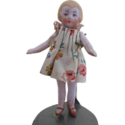 """Tiny 3"""" All Bisque Antique Doll"""