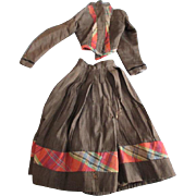 Lovely Antique Two Piece Doll Dress