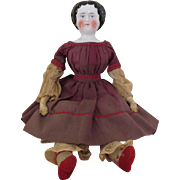 Serene China Head Doll in Early Dress