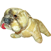 Antique Mohair Bulldog For Your Doll's Companion