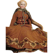 Antique Parian Doll in Stunning Outfit