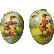 Vintage Germany Paper Mache Egg to Display Your Doll