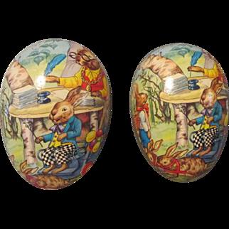 Vintage German Paper Mache Egg for Doll Display