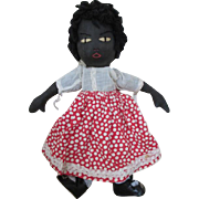 Adorable Black Cloth Artist Doll - Well Made