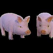Miniature Paper Mache Pigs for Your Doll Farm