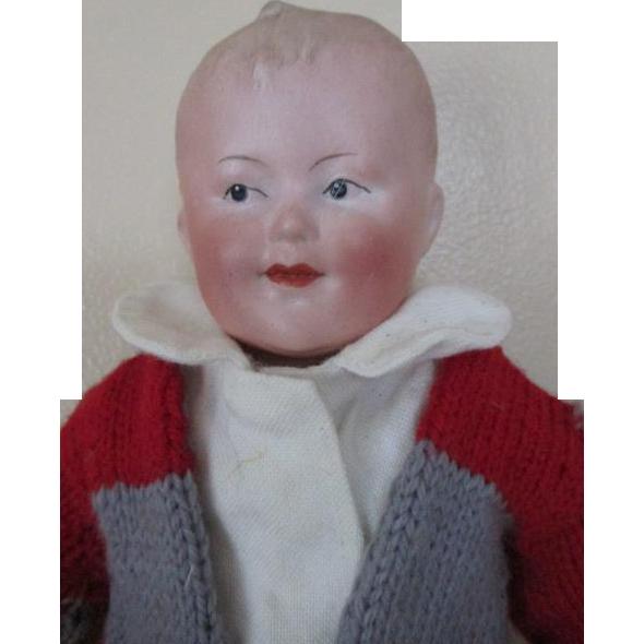Handsome Gebruder Heubach Bisque Head Doll