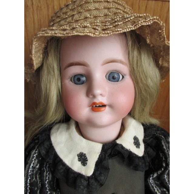 Gorgeous S H CM Bergmann Antique Bisque Head Doll