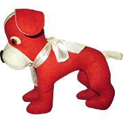 Vintage Felt Dog for your Doll's Companion