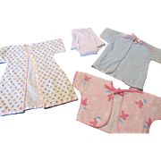 Vintage Flannel Clothes for Your Baby Doll's Layette