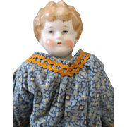 Sweet 10 Inch Blond China Head Doll