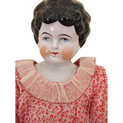 Antique China Doll Head with Pretty Dress