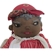 1930's Black Folk Art Doll with Beautiful Features