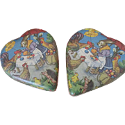 Vintage Easter Candy Container Heart Shaped
