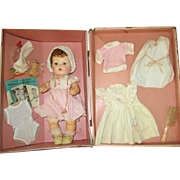 Vintage Tiny Tears with Layette Case and Items