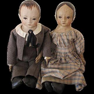 Primitive Looking Artist Dolls by Judie Tasch
