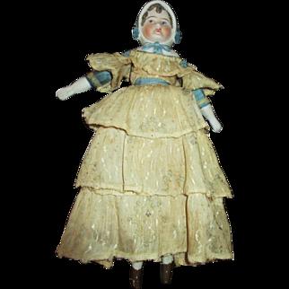 Antique Stone Bisque Bonnet Head Doll