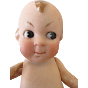 Sweet Googly Eyed All Bisque German Doll