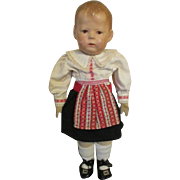 1930's Kathe Kruse Baby Doll in Original Outfit