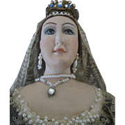 Stunning Artist Queen Victoria Doll by Madeline Foxl