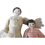 Antique Miniature China Head Dolls for Doll House