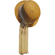 Antique Straw Bonnet for your Antique Doll