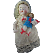 Antique All Bisque Antique Doll