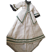 Antique Wool French Fashion Doll Walking Outfit
