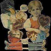 Antique Uncut Paper Dolls - Hansel & Gretel