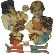 Antique Uncut Paper Dolls - Hansel & Gretel