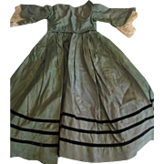 Stunning Silk Dress For Your Antique Doll
