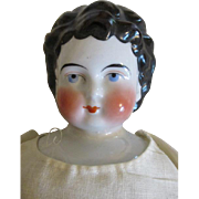 Unusual Apple Cheek China Head Doll - Red Tag Sale Item