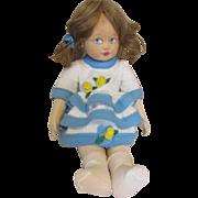 Vintage Cloth Lenci Doll in Pretty Dress