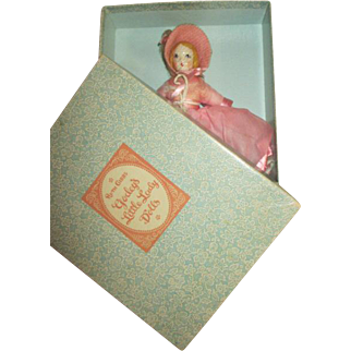 Vintage Ruth Gibbs Godey's Little Lady Doll in Original Box - Never Removed