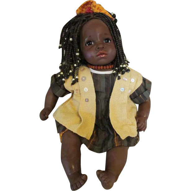 Beautiful African American Gotz Baby - Muffin - With COA