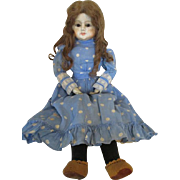 "Darling 27"" Paper Mache Head Doll with Human Hair Wig"
