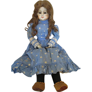 """Darling 27"""" Paper Mache Head Doll with Human Hair Wig"""