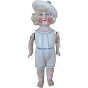Sweet Antique German All Bisque Doll
