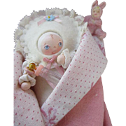 Little Wooden Artist Doll in Original Box